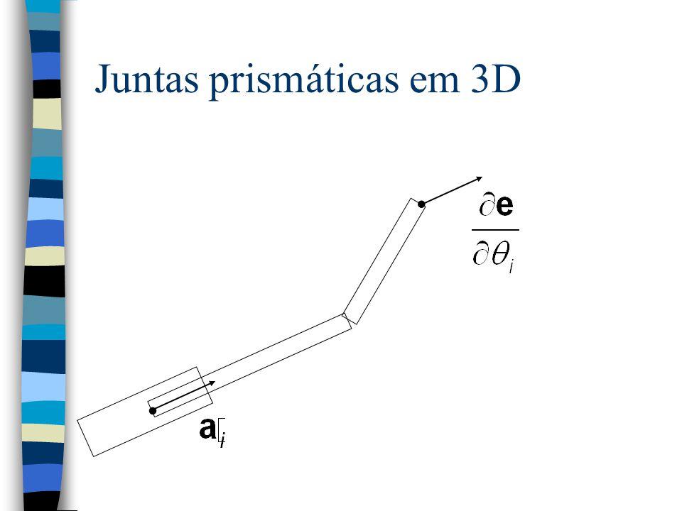 Juntas prismáticas em 3D