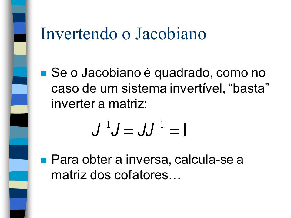 Invertendo o Jacobiano