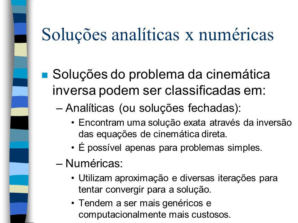 Soluções analíticas x numéricas