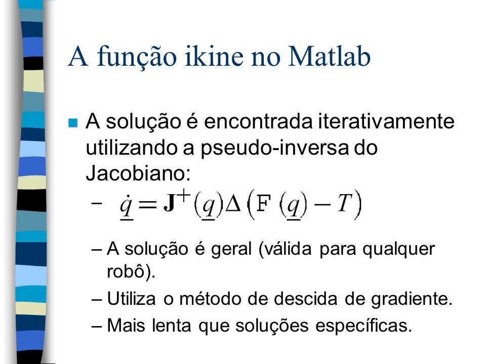 A função ikine no Matlab