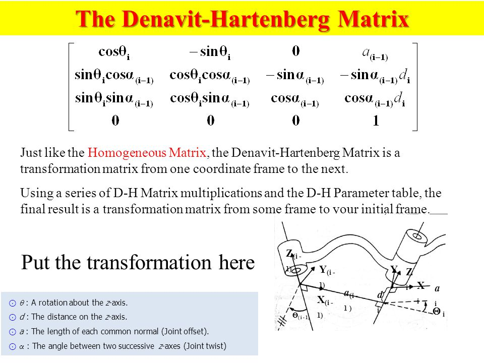 The Denavit-Hartenberg Matrix