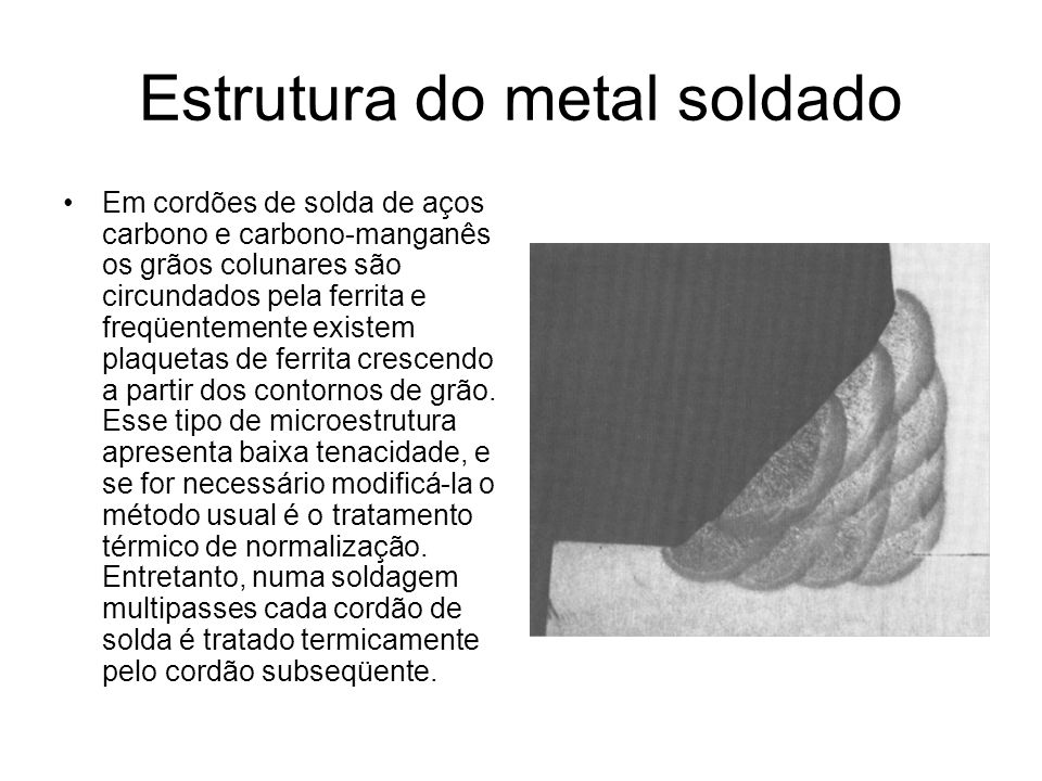 Estrutura do metal soldado