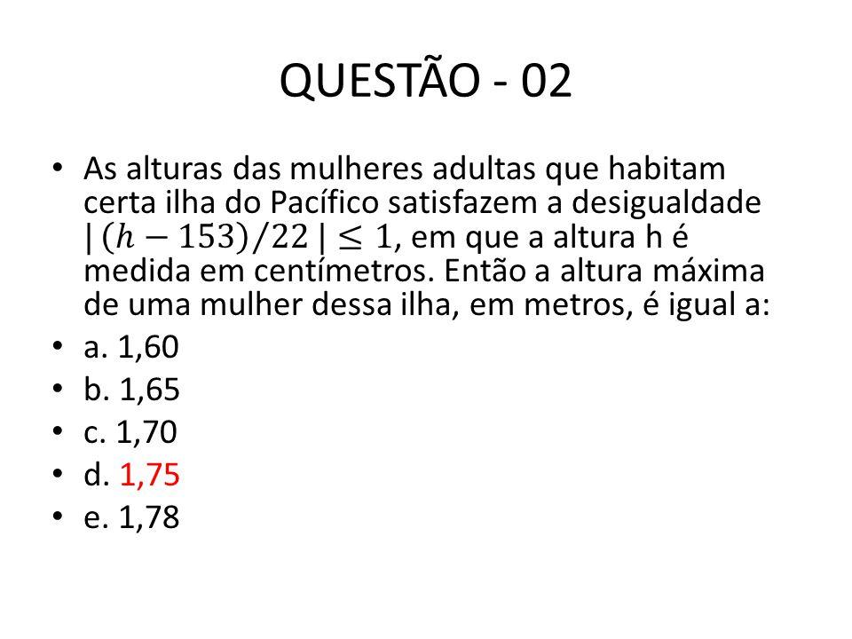 QUESTÃO - 02