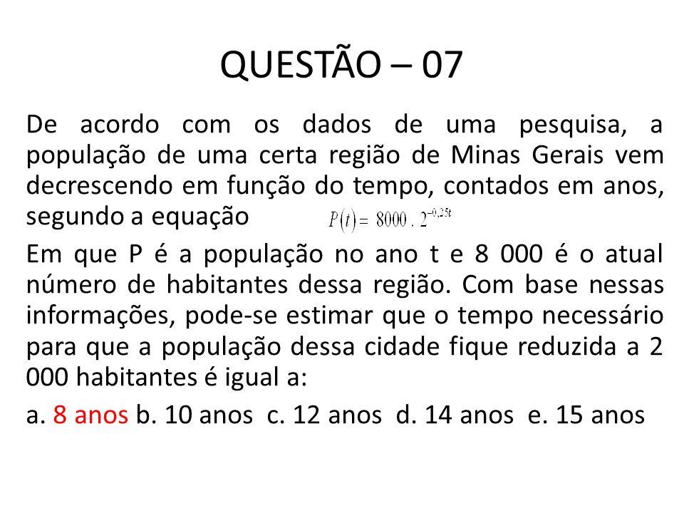 QUESTÃO – 07
