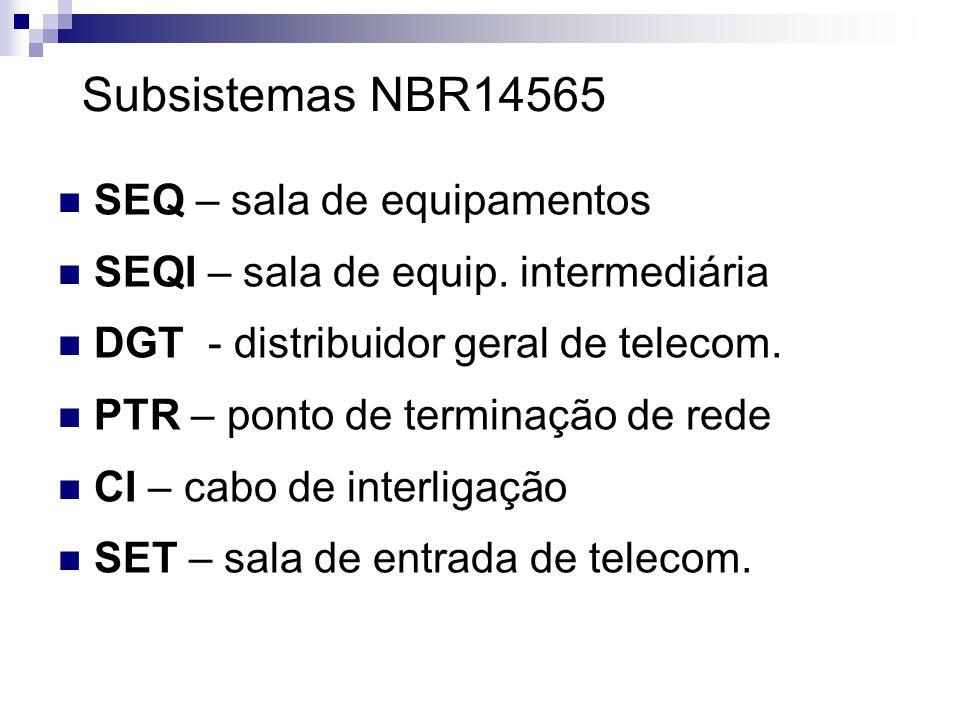 Subsistemas NBR14565 SEQ – sala de equipamentos