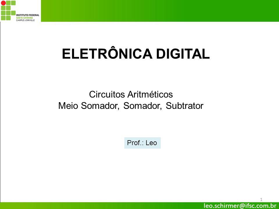 ELETRÔNICA DIGITAL Circuitos Aritméticos