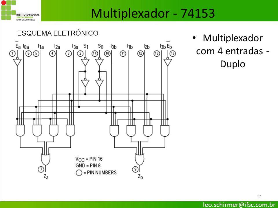 Multiplexador com 4 entradas - Duplo