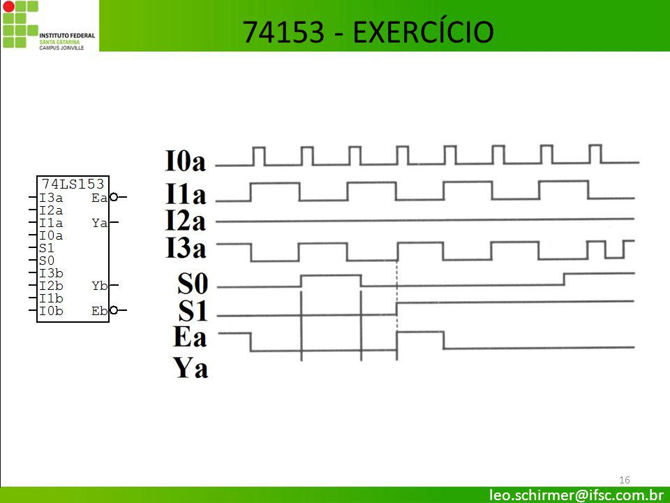74153 - EXERCÍCIO leo.schirmer@ifsc.com.br