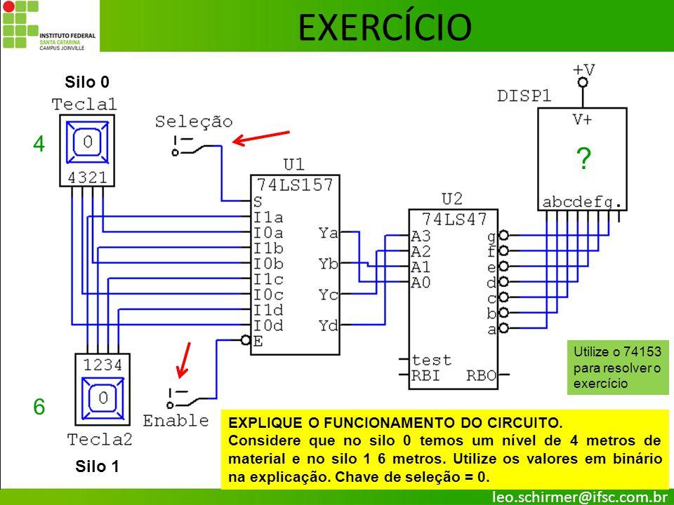 EXERCÍCIO 4 6 Silo 0 Silo 1 leo.schirmer@ifsc.com.br