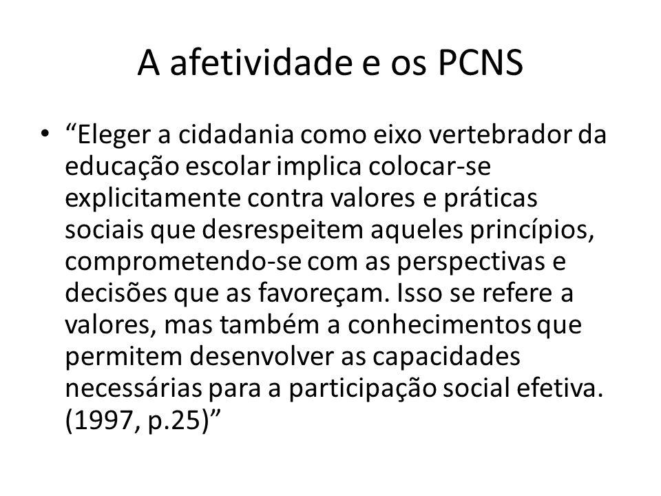 A afetividade e os PCNS