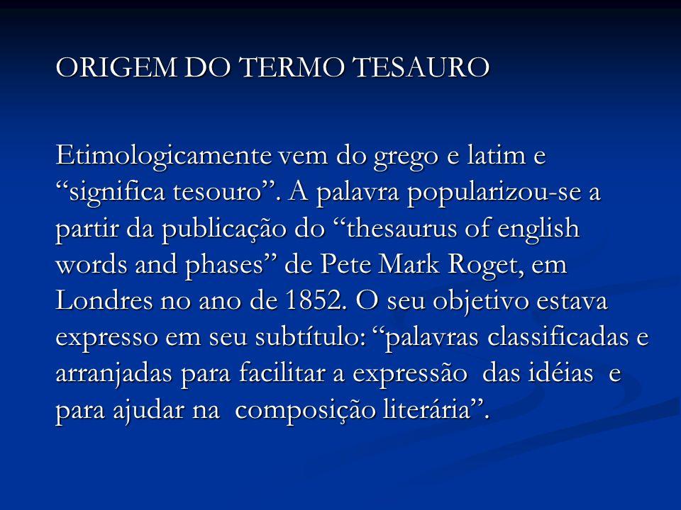ORIGEM DO TERMO TESAURO