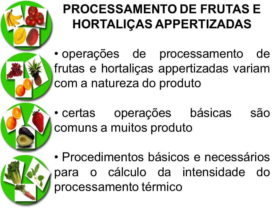PROCESSAMENTO DE FRUTAS E HORTALIÇAS APPERTIZADAS