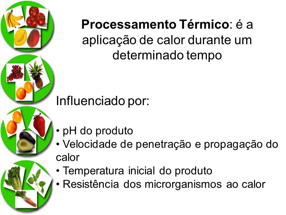 Processamento Térmico: é a aplicação de calor durante um determinado tempo