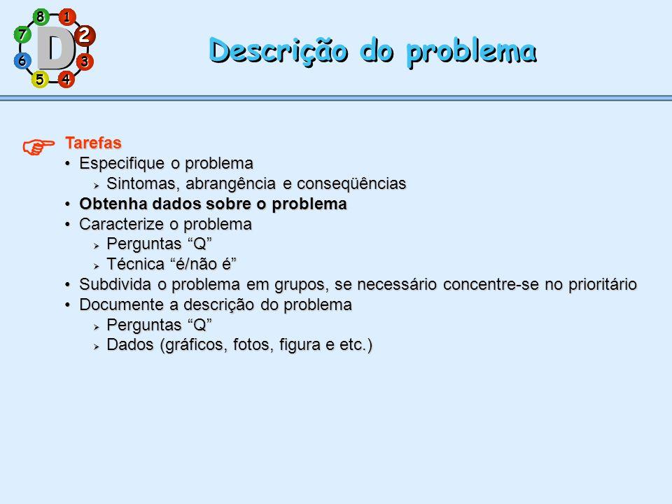  Descrição do problema 2 Tarefas Especifique o problema