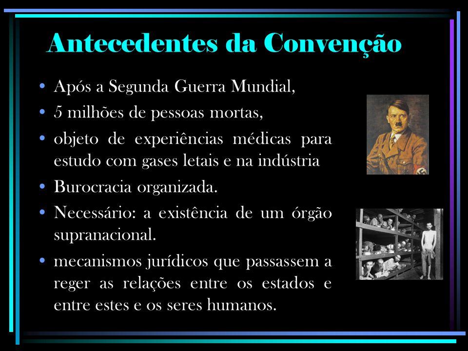 Antecedentes da Convenção