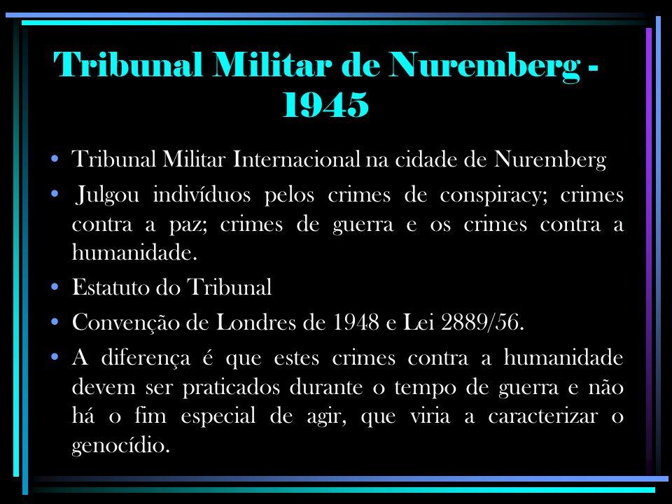 Tribunal Militar de Nuremberg - 1945