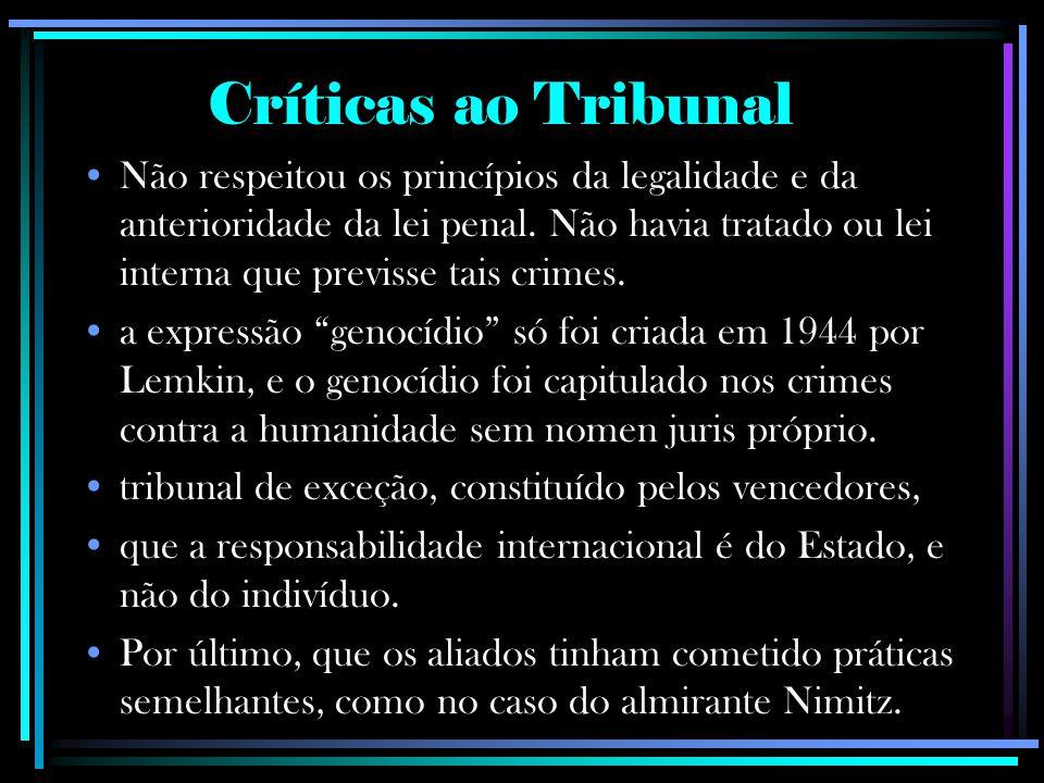 Críticas ao Tribunal