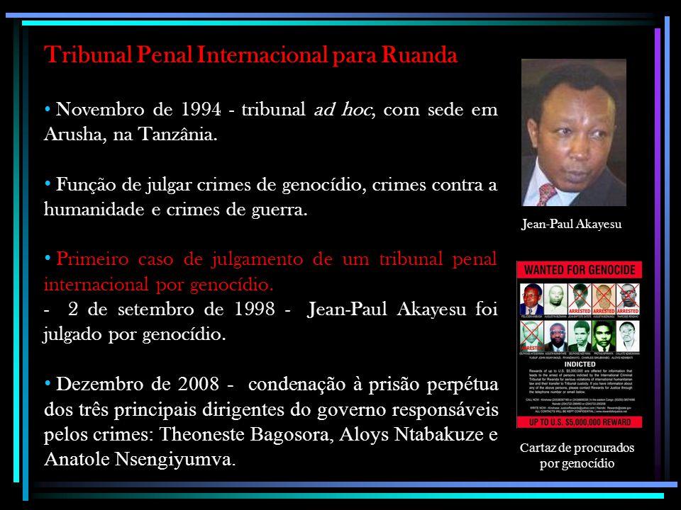 Cartaz de procurados por genocídio