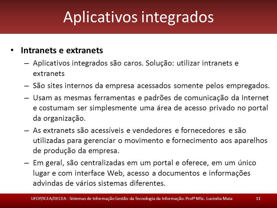 Aplicativos integrados