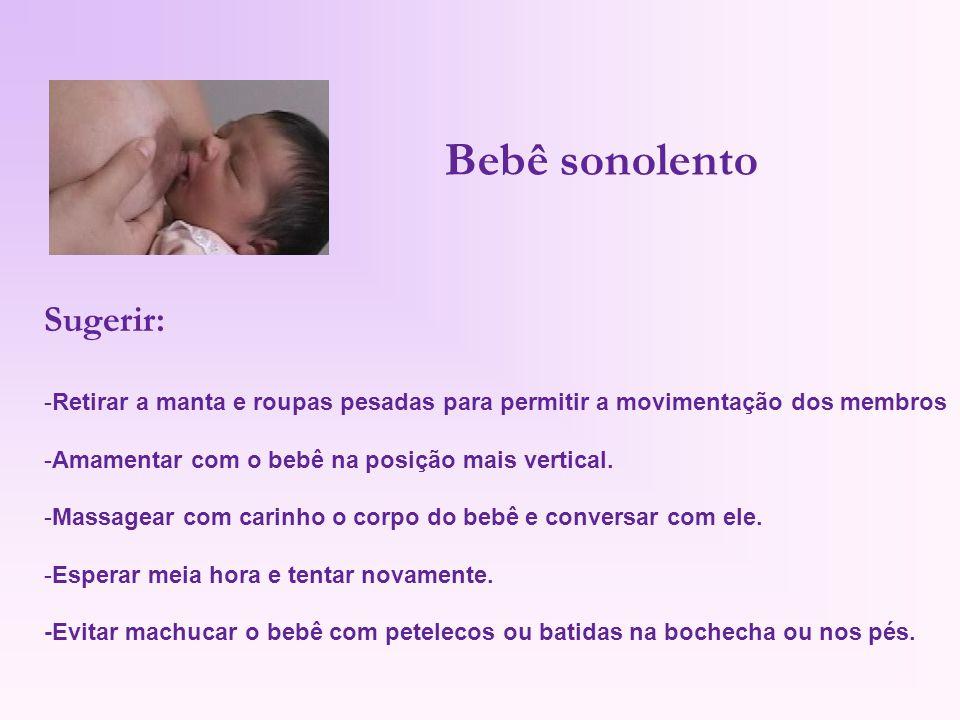 Bebê sonolento Sugerir: