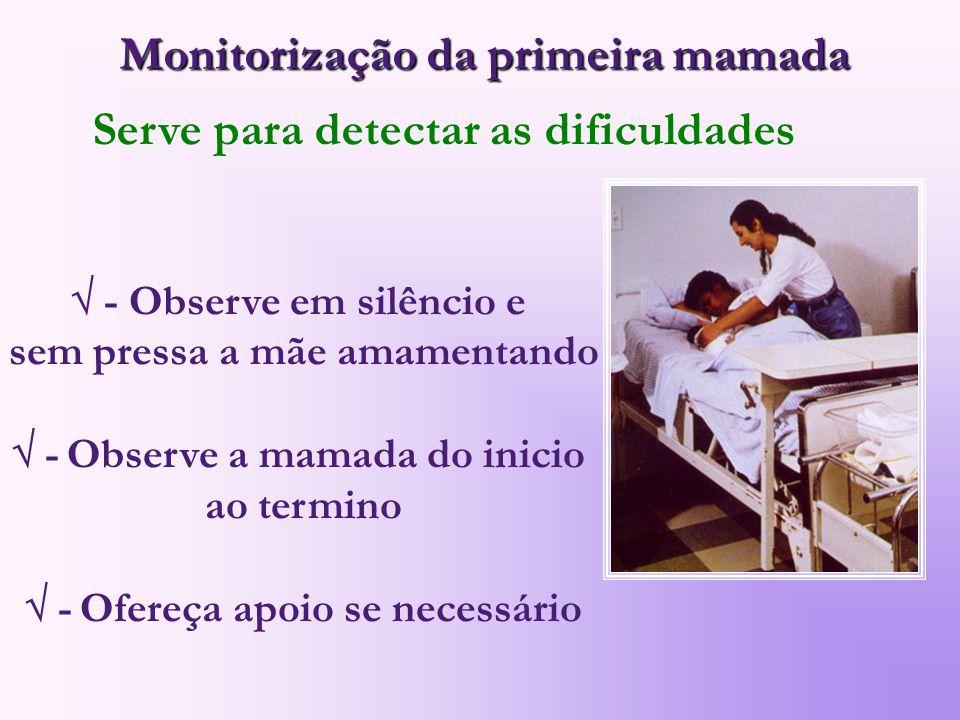 Monitorização da primeira mamada