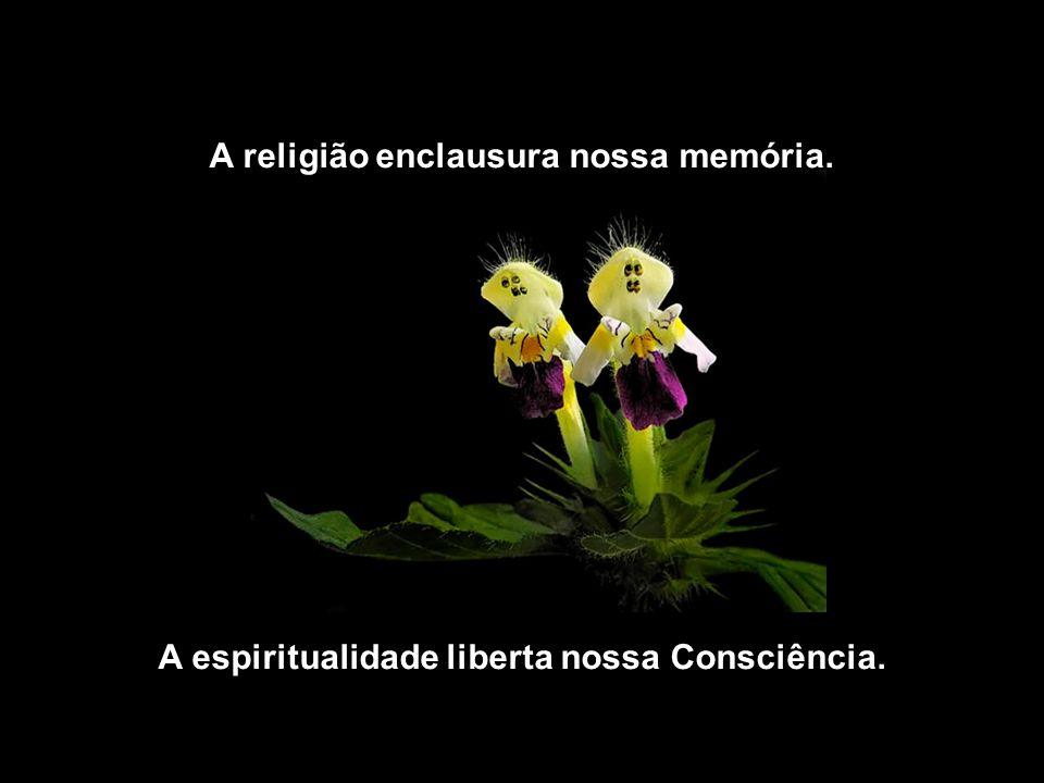 A religião enclausura nossa memória.