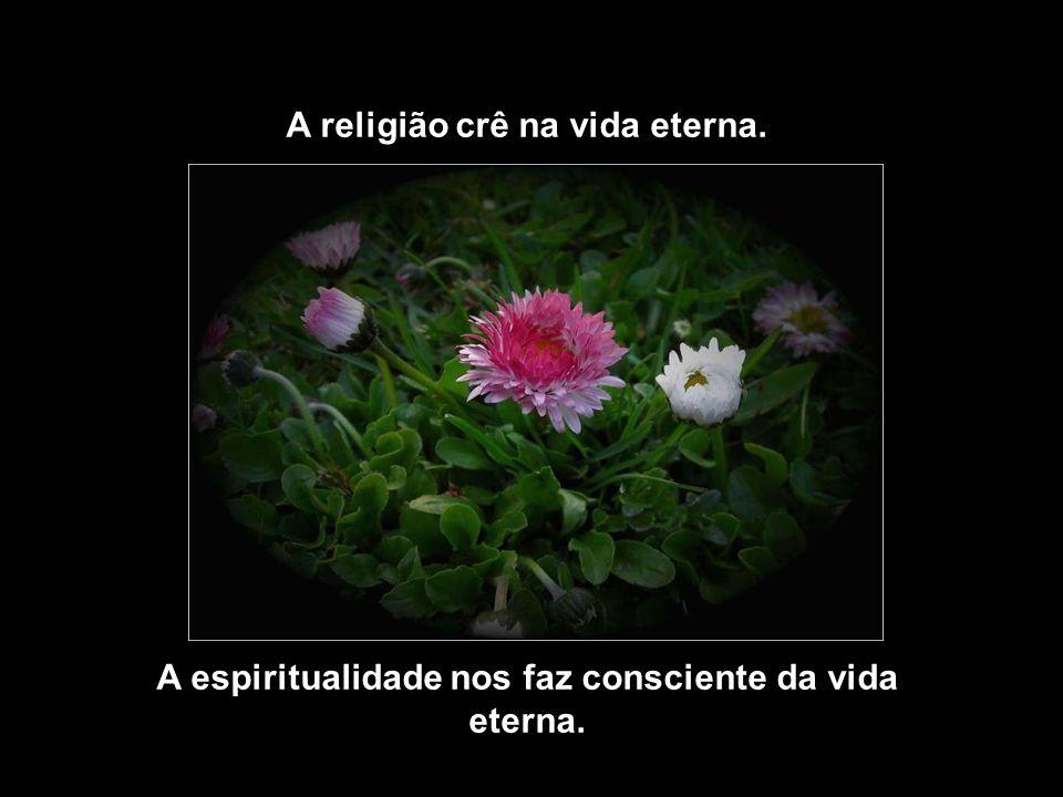 A religião crê na vida eterna.