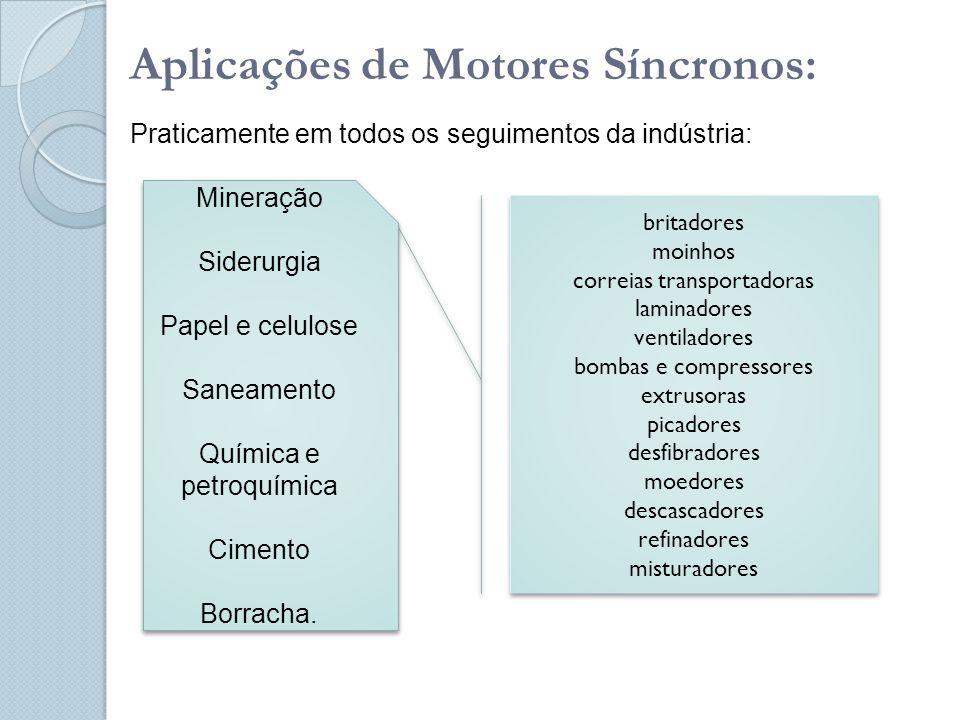 Aplicações de Motores Síncronos: