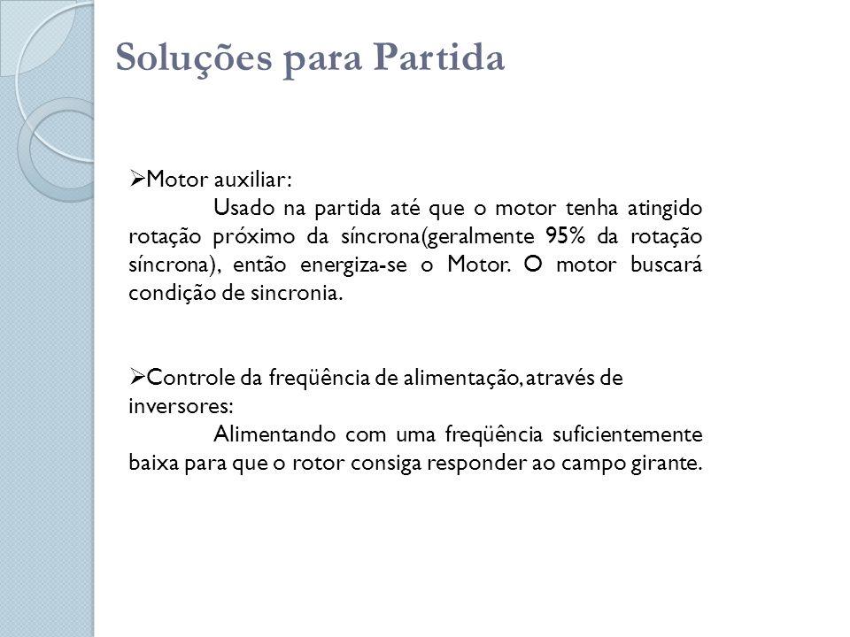 Soluções para Partida Motor auxiliar: