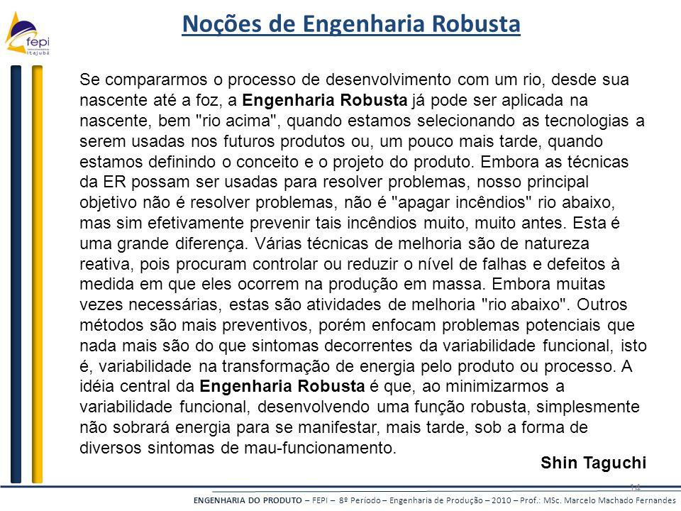 Noções de Engenharia Robusta