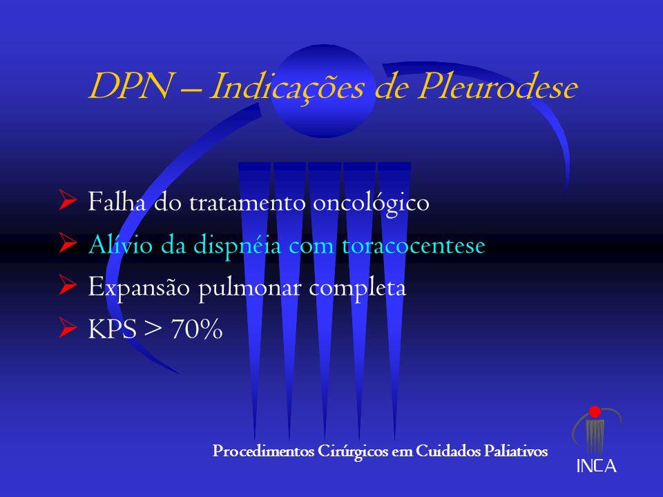 DPN – Indicações de Pleurodese
