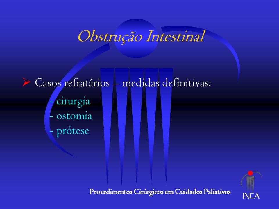 Obstrução Intestinal Casos refratários – medidas definitivas: