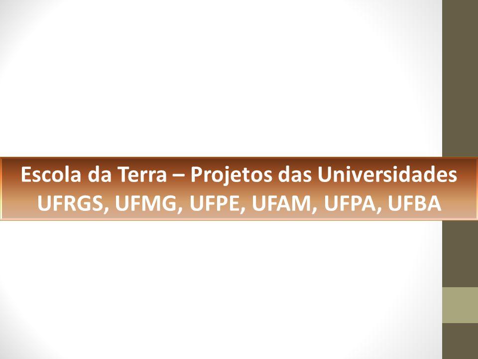 Escola da Terra – Projetos das Universidades