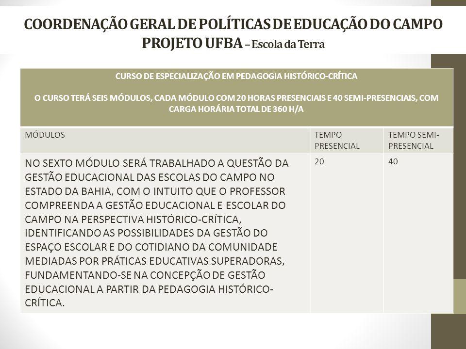 CURSO DE ESPECIALIZAÇÃO EM PEDAGOGIA HISTÓRICO-CRÍTICA