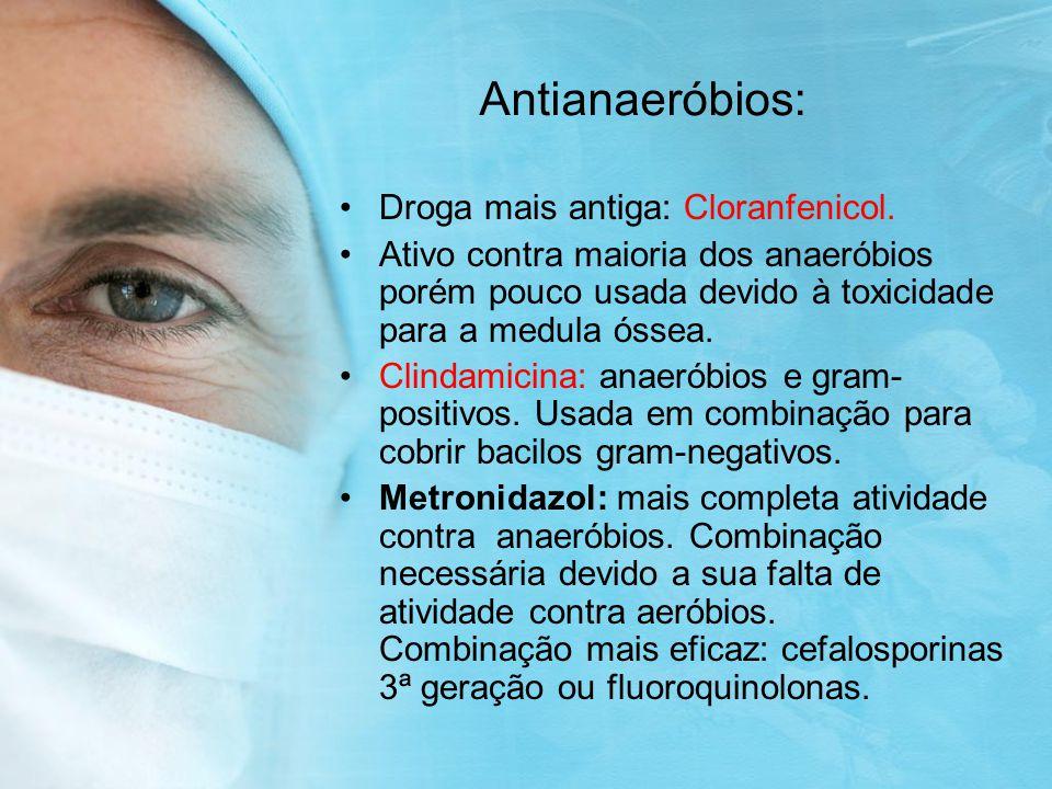 Antianaeróbios: Droga mais antiga: Cloranfenicol.