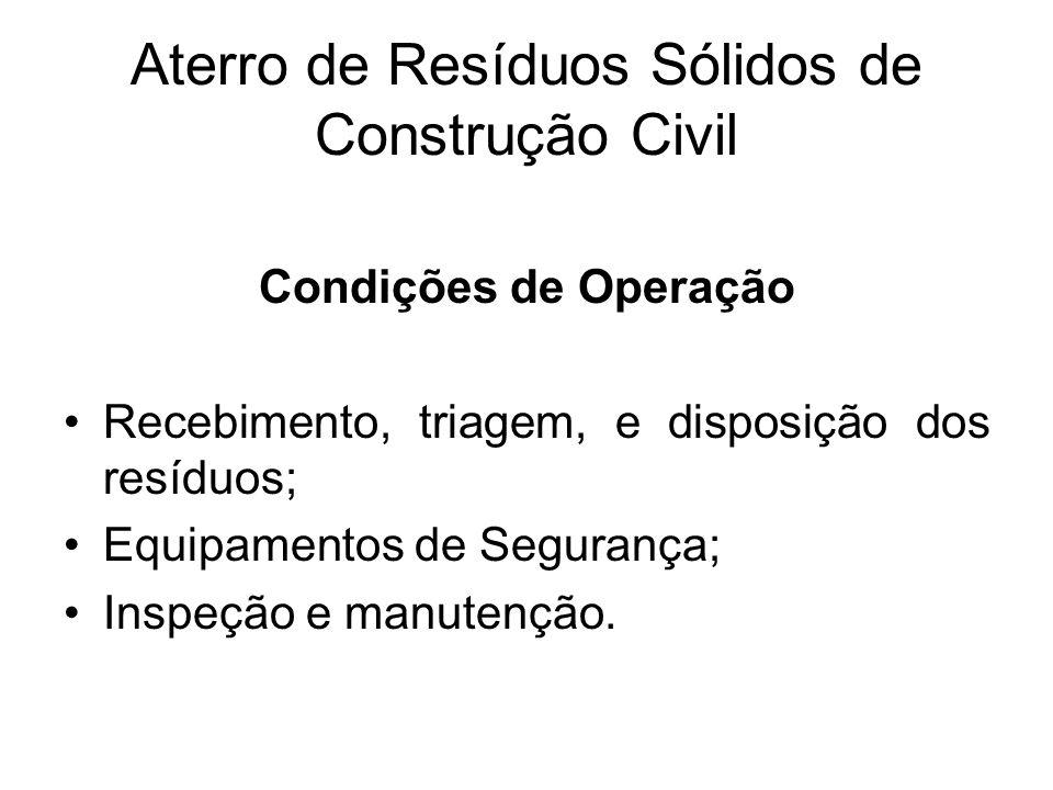 Aterro de Resíduos Sólidos de Construção Civil
