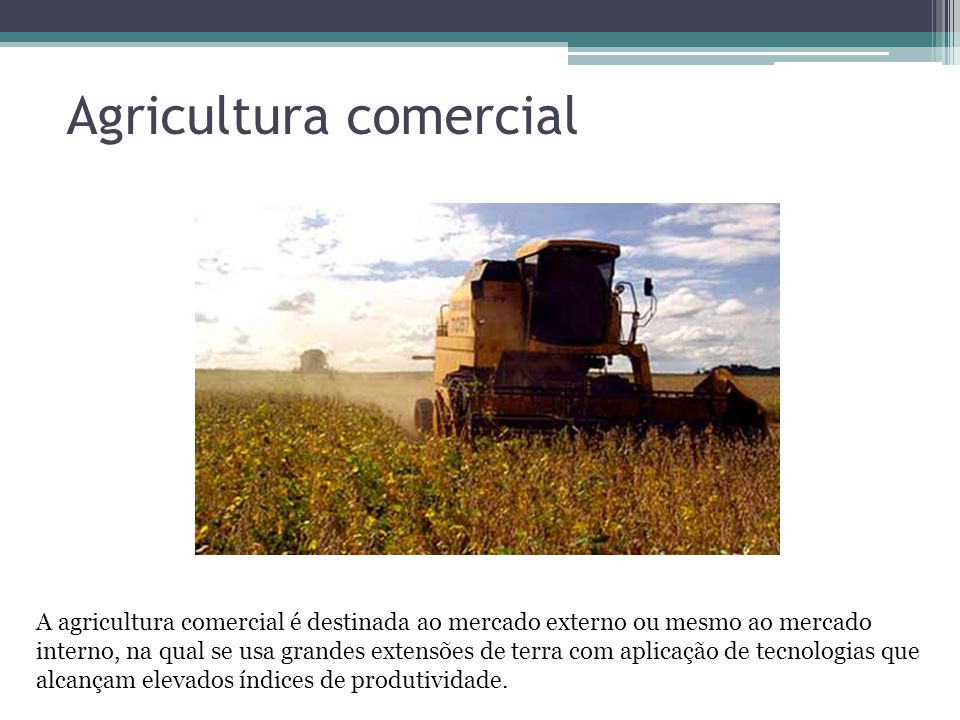 Agricultura comercial