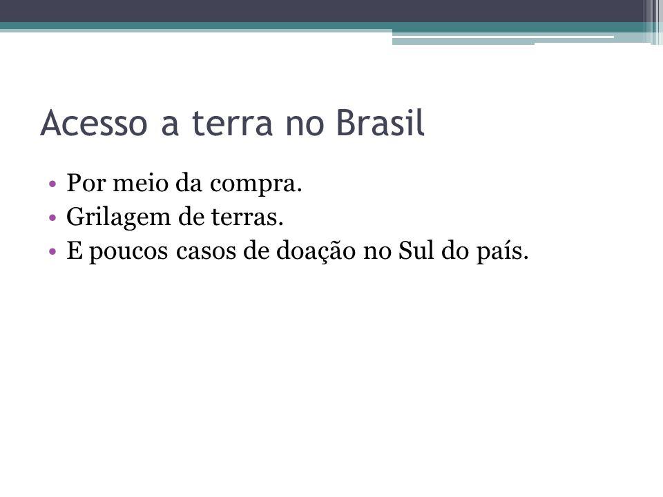 Acesso a terra no Brasil