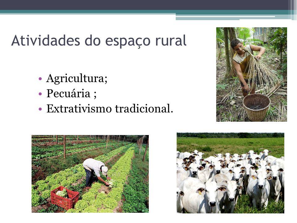 Atividades do espaço rural