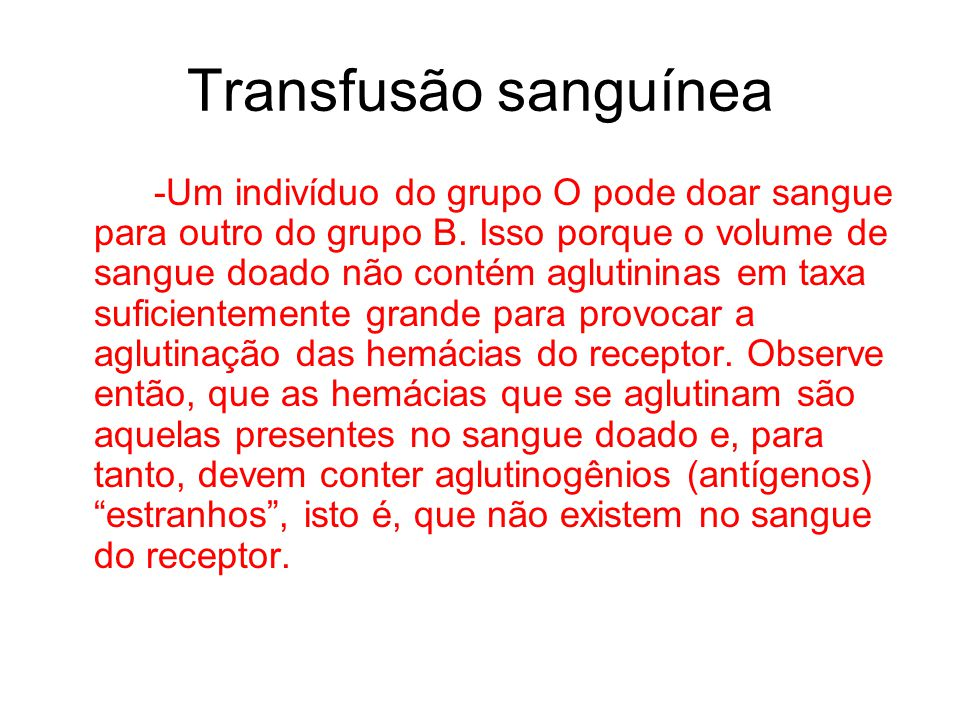 Transfusão sanguínea