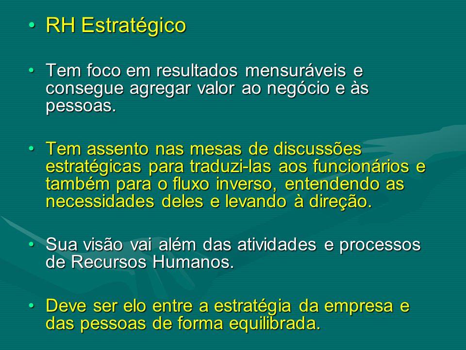 RH Estratégico Tem foco em resultados mensuráveis e consegue agregar valor ao negócio e às pessoas.