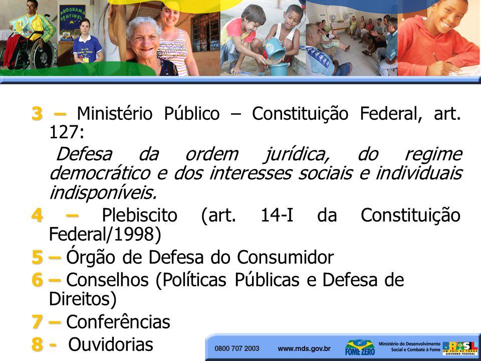 4 – Plebiscito (art. 14-I da Constituição Federal/1998)