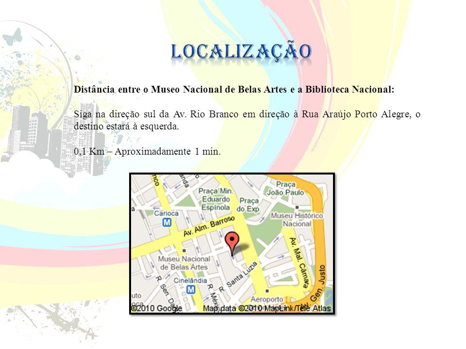 Localização Distância entre o Museo Nacional de Belas Artes e a Biblioteca Nacional: