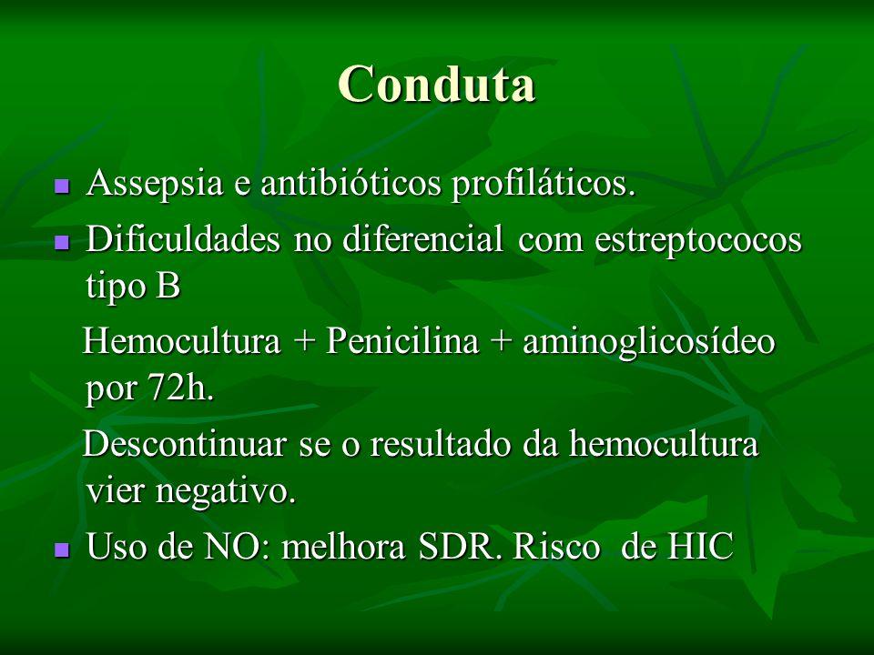 Conduta Assepsia e antibióticos profiláticos.