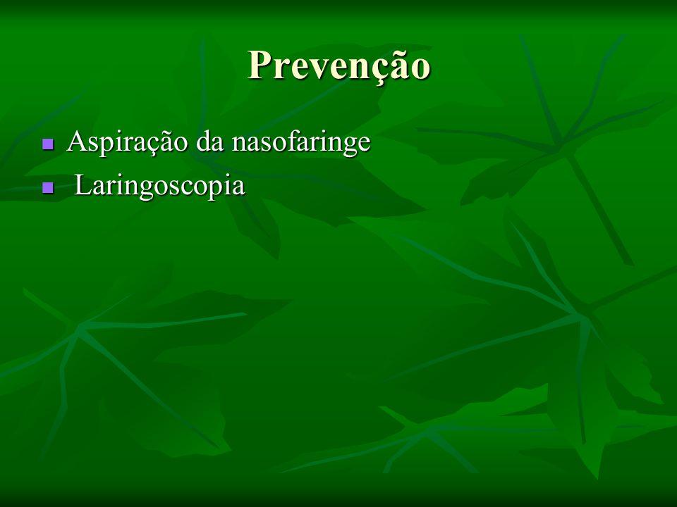 Prevenção Aspiração da nasofaringe Laringoscopia