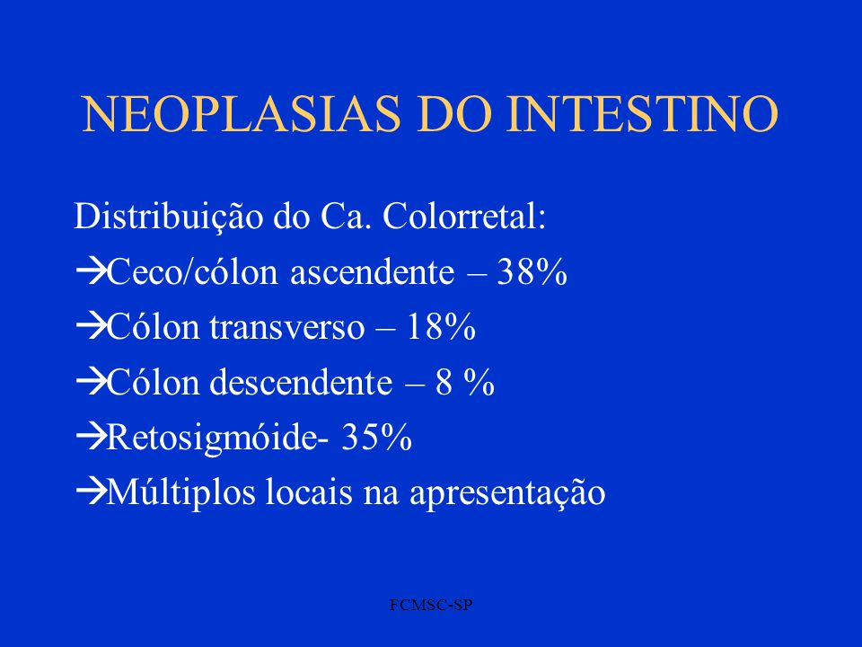 NEOPLASIAS DO INTESTINO