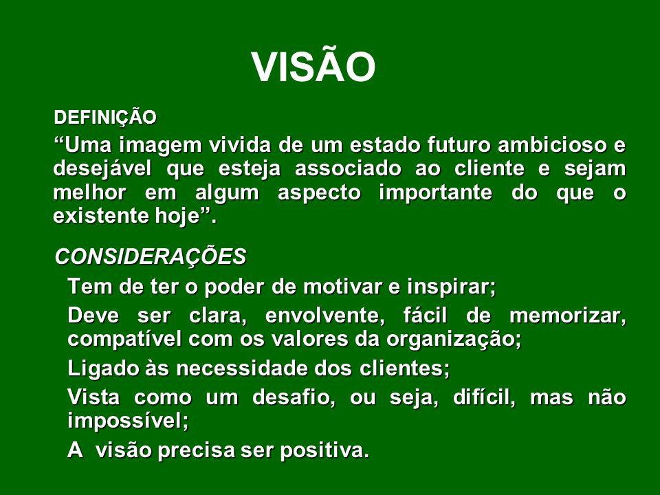 VISÃO DEFINIÇÃO.