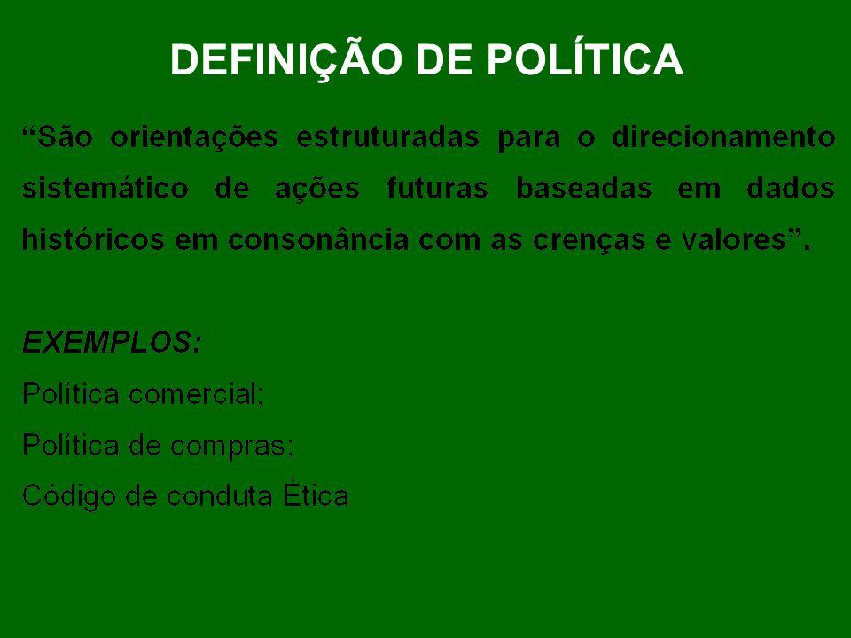DEFINIÇÃO DE POLÍTICA