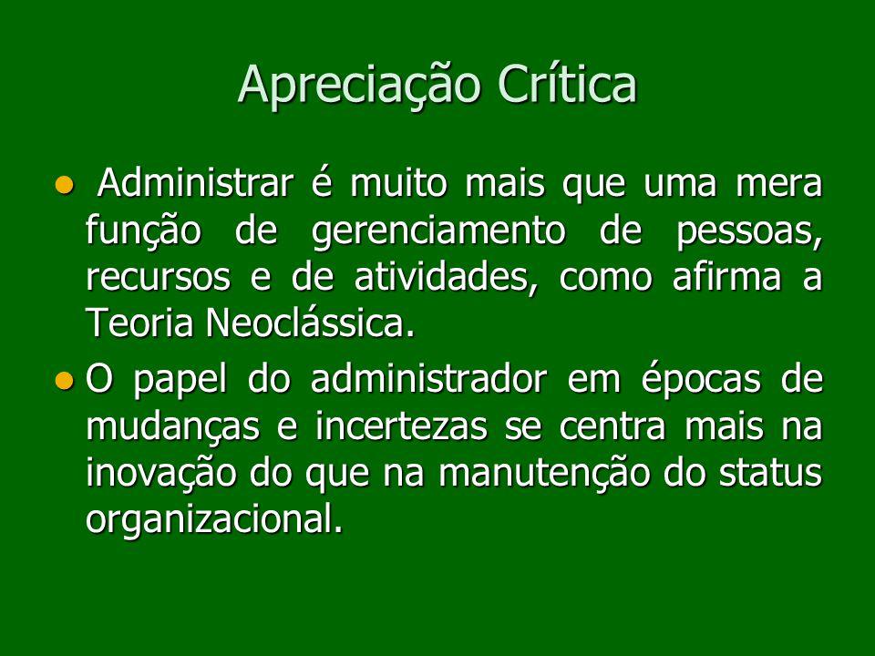 Apreciação Crítica