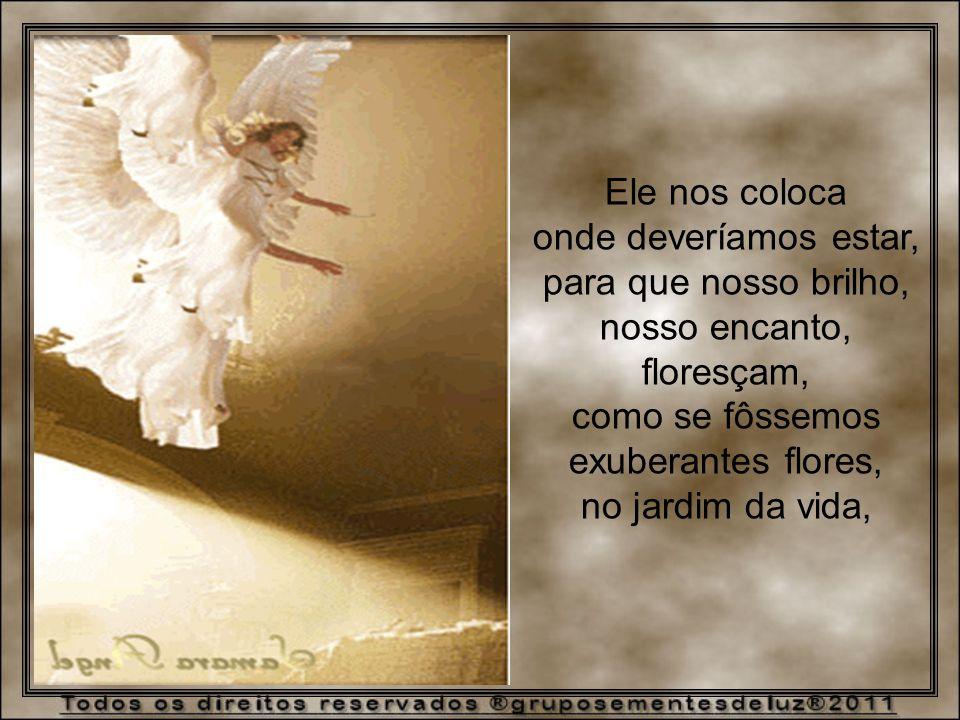 Ele nos coloca onde deveríamos estar, para que nosso brilho, nosso encanto, floresçam, como se fôssemos.